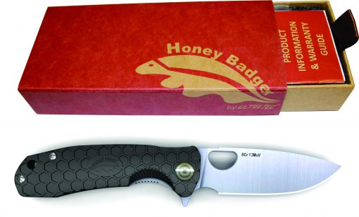 Honey Badger Knife Western Active Black with Gift Box