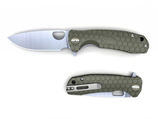 HB1003 Honey Badger Flipper Knife Large Green