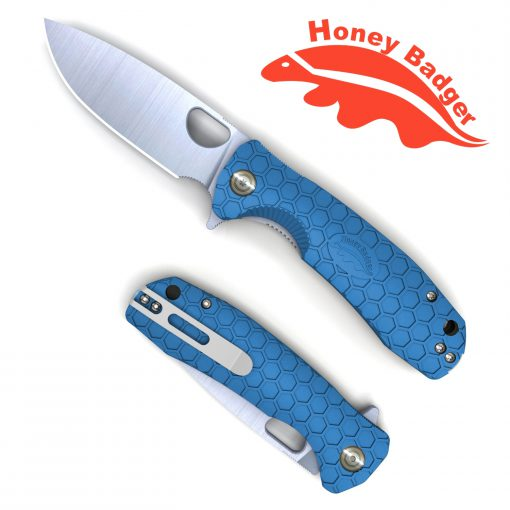 HB1017 Honey Badger Flipper Medium Blue 8Cr13Mov