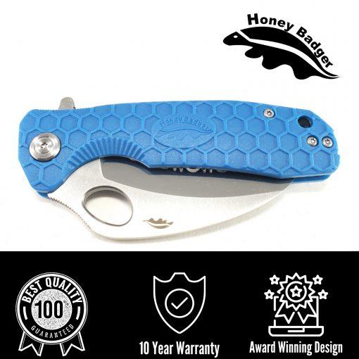 HB1128 Honey Badger Flipper Claw Medium Blue D2