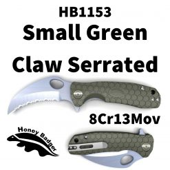 Honey Badger Knives by Western Active HB1153 Claw Small Green 8Cr13Mov