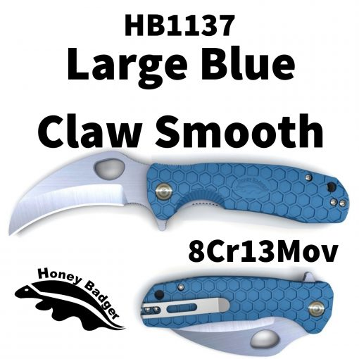 Honey Badger Knives EDC Pocket Knife by Western Active HB1137 Blue Claw