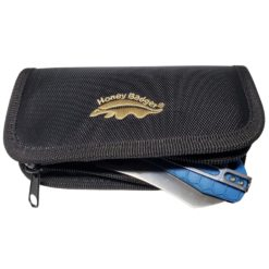 Honey Badger Black Nylon Zipper Pouch